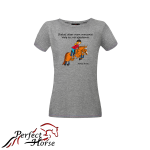 PERFECT HORSE T-shirt damski Cartoon Okser
