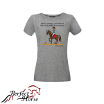 PERFECT HORSE T-shirt damski Cartoon Piaff