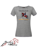 PERFECT HORSE T-shirt damski Cartoon Czworoboki