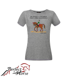 PERFECT HORSE T-shirt damski Cartoon Technika