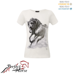 PERFECT HORSE T-shirt damski Impression Gallop biały