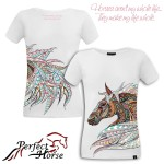 PERFECT HORSE T-shirt damski Freedom biały