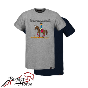 PERFECT HORSE T-shirt męski Cartoon Piaff